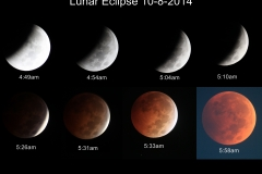 Lunar Eclipse Collage Oct 8, 2014